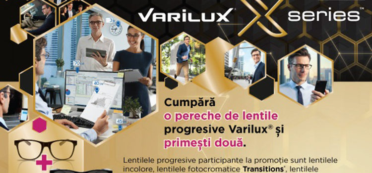 Ofertă specială Optica Dr. Pîrgă – Lentile progresive Varilux de la Essilor, 1+1 gratis