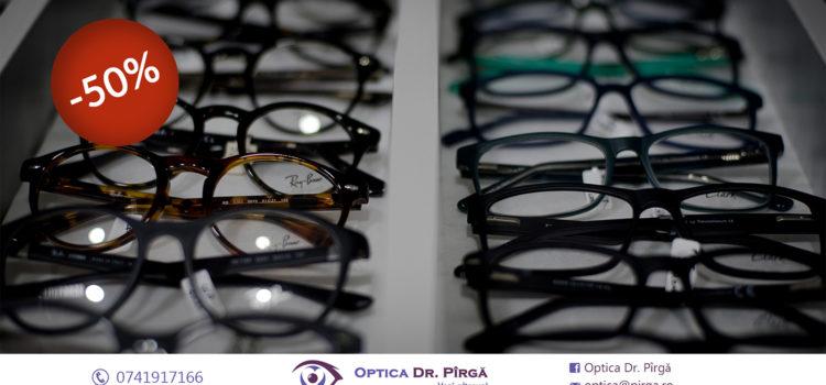 Reducere de 50% la ramele de ochelari din Optica Dr. Pîrgă